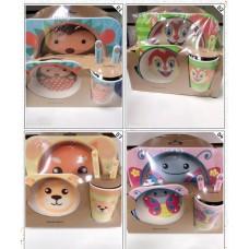 Набор детской посуды из Бамбука (Тип-Ш)