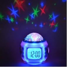 Часы-будильник с проектором звездного неба 529-160