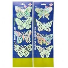 Набор наклеек 4шт, с бабочками 503-372
