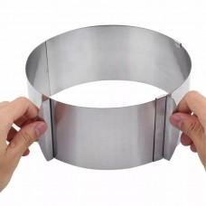 Cake ring Раздвижная форма для выпечки из нержавеющей стали круглая