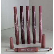 2 в 1 Помада+карандаш Miss Rose