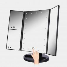 Складное сенсорное зеркало с подсветкой