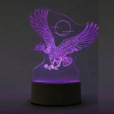 3D светильник ночник Орел