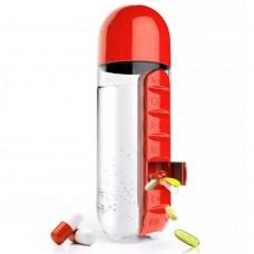 Pill & Vitamin Бутылка с органайзером для таблеток Красная