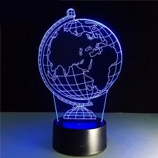 3D светильник ночник Глобус