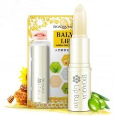 Бальзам для губ bioaqua lip balm с медом и гиалуронкой