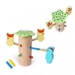 Детская развивающая игра Магнитная игра-рыбалка дупло с птенцами JHTOY-507