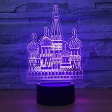 3D светильник ночник дворец