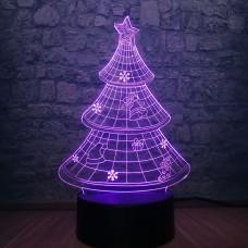 3D светильник ночник Елка