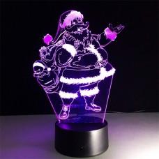 3D светильник ночник Дед Мороз