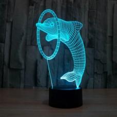 3D светильник ночник Дельфин