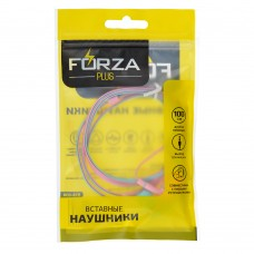 FORZA Наушники вакуумные розово-голубые, PP-пакет 916-038