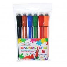 ClipStudio Фломастеры утолщенные со штампиками, 6 цветов,256-138