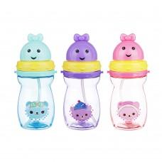 Бутылочка детская, 420 мл, пластик, 3 дизайна,829-185