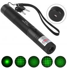 Лазерная указка зеленая 1 насадка Green Laser Pointer 3000mW
