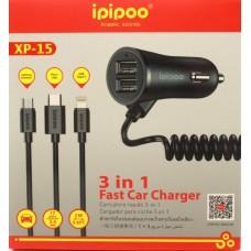Автомобильное зарядное устройство ipipoo XP-15