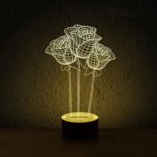 3D светильник ночник Розы