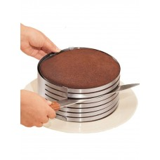 Форма кольцо для выпечки и нарезки коржей Слайсер для торта регулируемый размер от 15 до 20 см