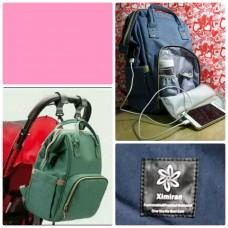 Сумка рюкзак для мамы с usb