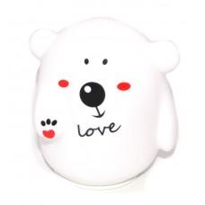 Детский ночник Мишка Love 12х10,8х16,3 см