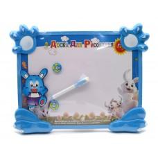 Доска для рисования с магнитами и маркером Синий Кролик
