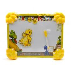 Доска для рисования с магнитами и маркером Желтый динозавр