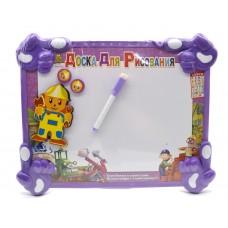 Доска для рисования с магнитами и маркером Фиолетовый Строитель
