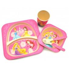 Набор детской посуды из Бамбука Bamboo kids set Принцессы