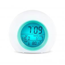 Сенсорный цифровой ночник будильник меняющий цвета Color Change