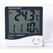 Цифровой термометр + гигрометр HTC-2 с выносным датчиком