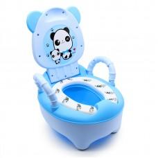 Горшок детский Панда SOFT QUALITY переносной с ручками Синий