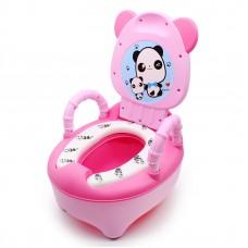 Горшок детский Панда SOFT QUALITY переносной с ручками Розовый