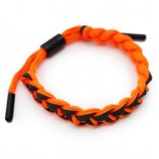 Браслет косичка Rastaclat Positive Vebrations Ярко-оранжевый светоотражающий