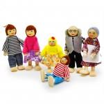 Детская игра Семья Puppet family Деревянная 6 фигурWood Fate WFPuppet