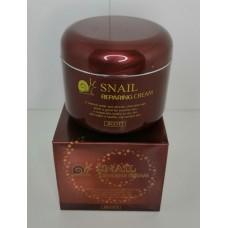 Восстанавливающий крем с экстрактом слизи улитки jigott snail repairing cream