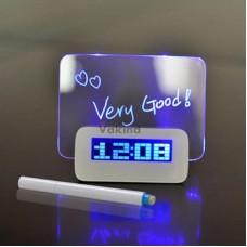 Часы-будильник с LED-доской для записей и рисунков
