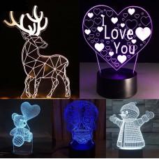 3D светильник (в ассортименте)