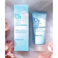 FARMSTAY O2 Premium Aqua Foam Cleansing  Кислородная пенка для умывания