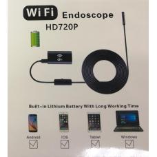 Видеоэндоскоп с Wi-Fi для подключения к телефону, планшету, ноутбуку