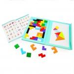 Colorful Tetris Magnetic 40 pcs Детская Обучающая игра в книжке Тетрис Магнитный CT2511