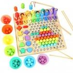 Развивающая детская игра Logarithmic Plate with Beads с фигурами цифрами и шариками OY-041